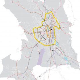 Návrh dopravy vo variante B pracuje so spriechodnením mesta a zmenou mestských rýchlostných komunikácií na vnútromestské bulvári.