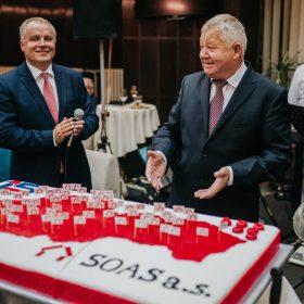 V súčasnosti má SOAS 29 obchodných partnerov a sedemdesiat päť predajných miest po celom Slovensku.