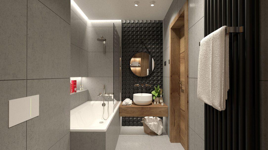 2. miesto kúpeľňa zvislý variant radiátora Zehnder Charleston vo farbe Black Matt