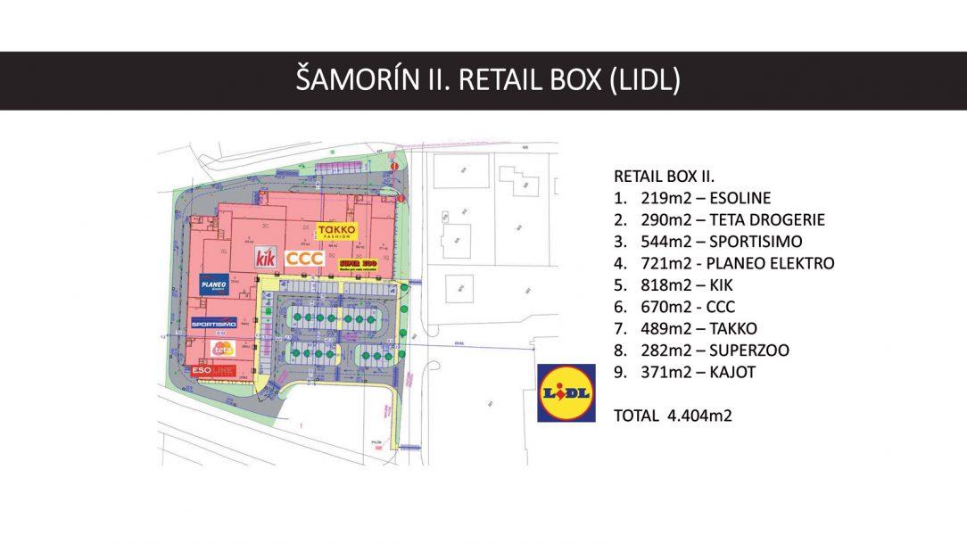 Retail Box pôdorys