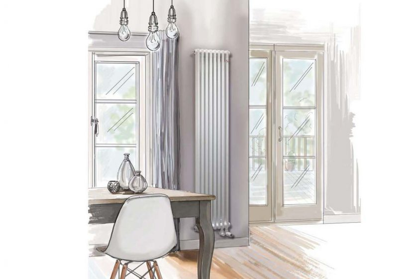 Vizualizace s radiátorem Zehnder Charleston 1