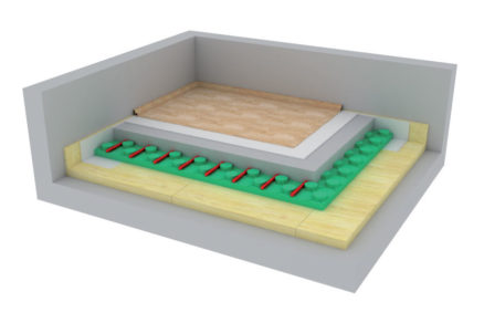 03Isoverhluk ISOVER Těžká plovoucí podlaha s podlahovým vytápěním