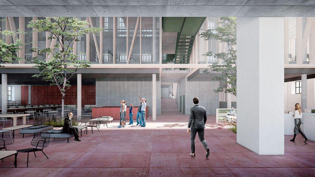 Jurkovičova tepláreň, Mlynské nivy, Bratislava, architektonická súťaž – návrh, 2017 Návrh srazanciou vstupuje do existujúceho objektu avytvára flexibilný, adaptabilný priestor, ponechávajúc si však svoju vnútornú priestorovú veľkorysosť.