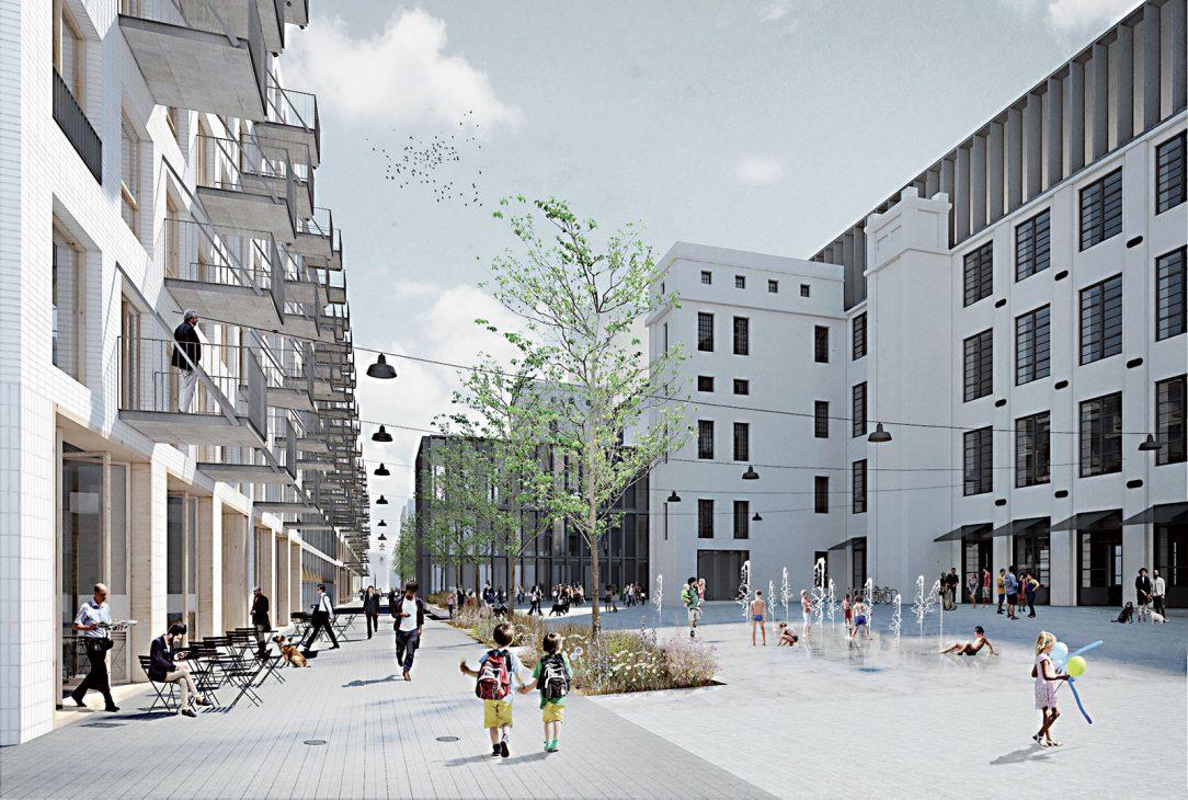 Cvernovka, Bratislava, urbanisticko-architektonická súťaž (3. miesto), 2016 Navrhované riešenie organicky nadväzuje na urbanistické štruktúry susedných rezidenčných súborov, ktoré spája do jedného celku.