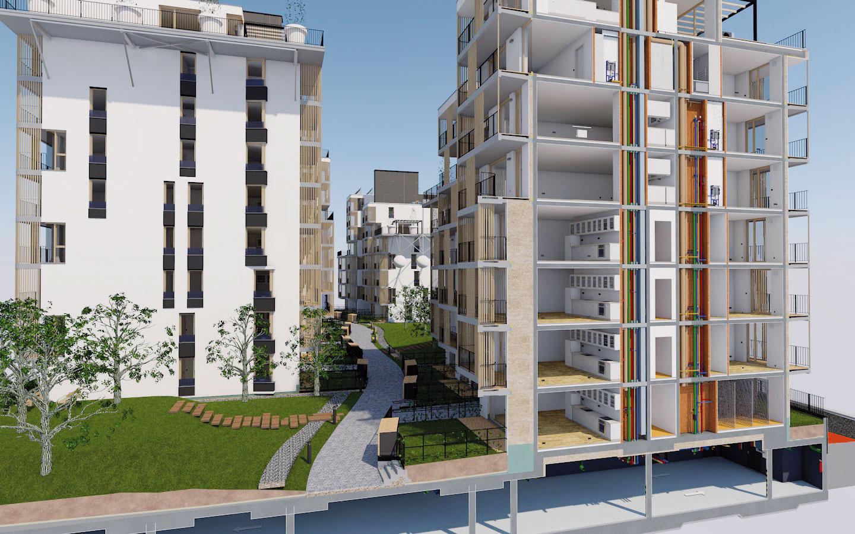 Projekt: 2016 – 2017, realizácia: 2016 – 2017. Po prvýkrát sa na Slovensku podarilo preniesť model na stavbu, tzv. BIM manažment, počas výstavby.