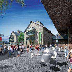 Centrálne námestie ako verejný priestor s obnovenými sýpkami