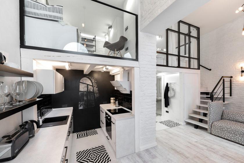 Interiér bytu v minimalistickom štýle 2