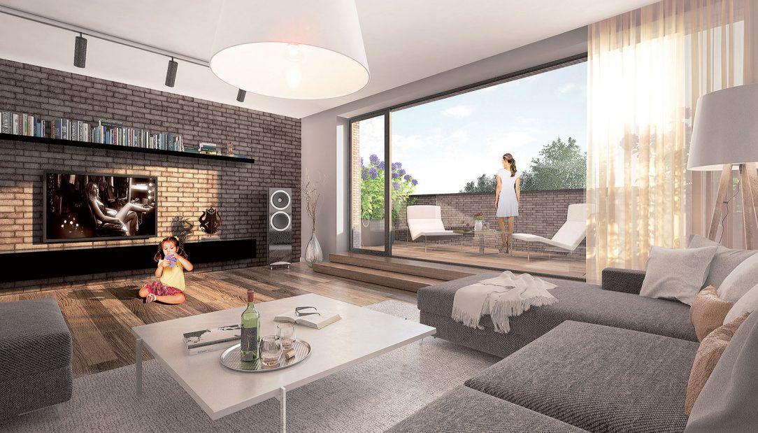 Navrhnuté sú veľkometrážne byty k jednotlivým bytom sú plánované predzáhradky lodžie alebo veľkorysé terasy