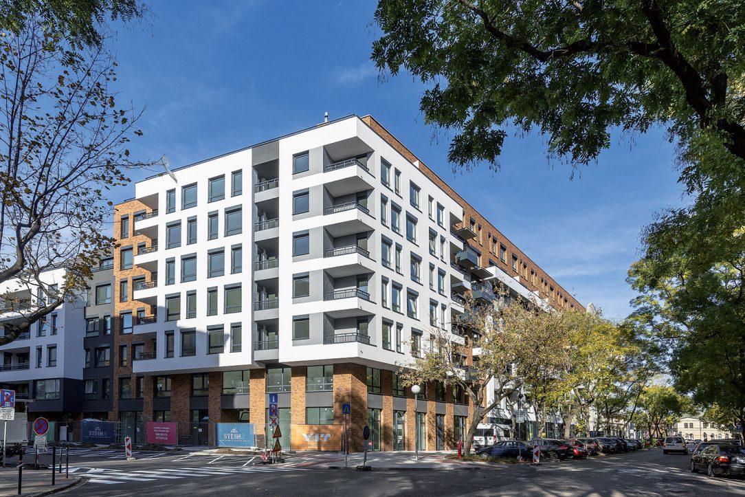 Pohľad na novostavbu STEIN2 z Blumentálskej ulice