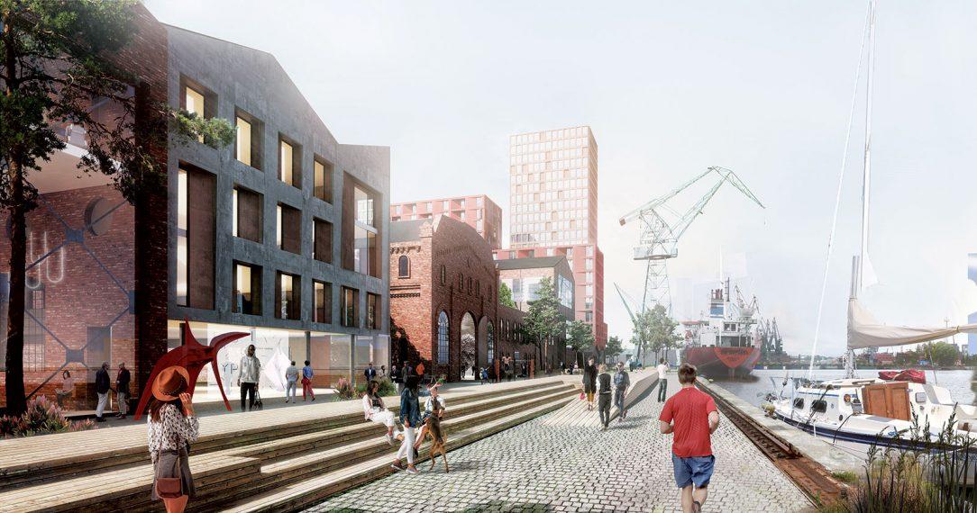 Pôvodné továrenské haly dostanú nové funkcie a doplní ich súčasná architektúra