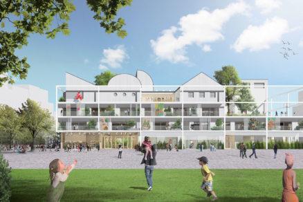 Základná škola ktorá pojme 540 študentov vo veku od 6 do 14 rokov je súčasťou ambiciózneho projektu Smíchov City