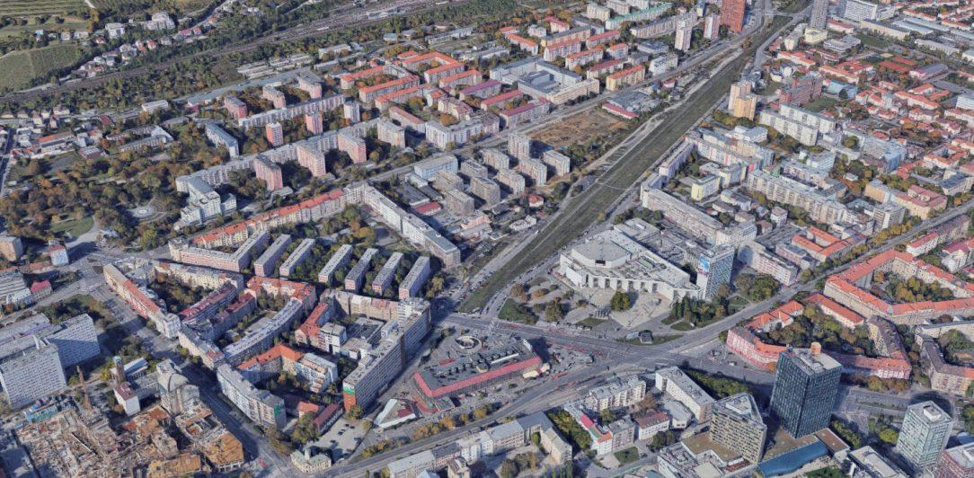Bratislava Filiálka súčasný stav ortofotomapa.