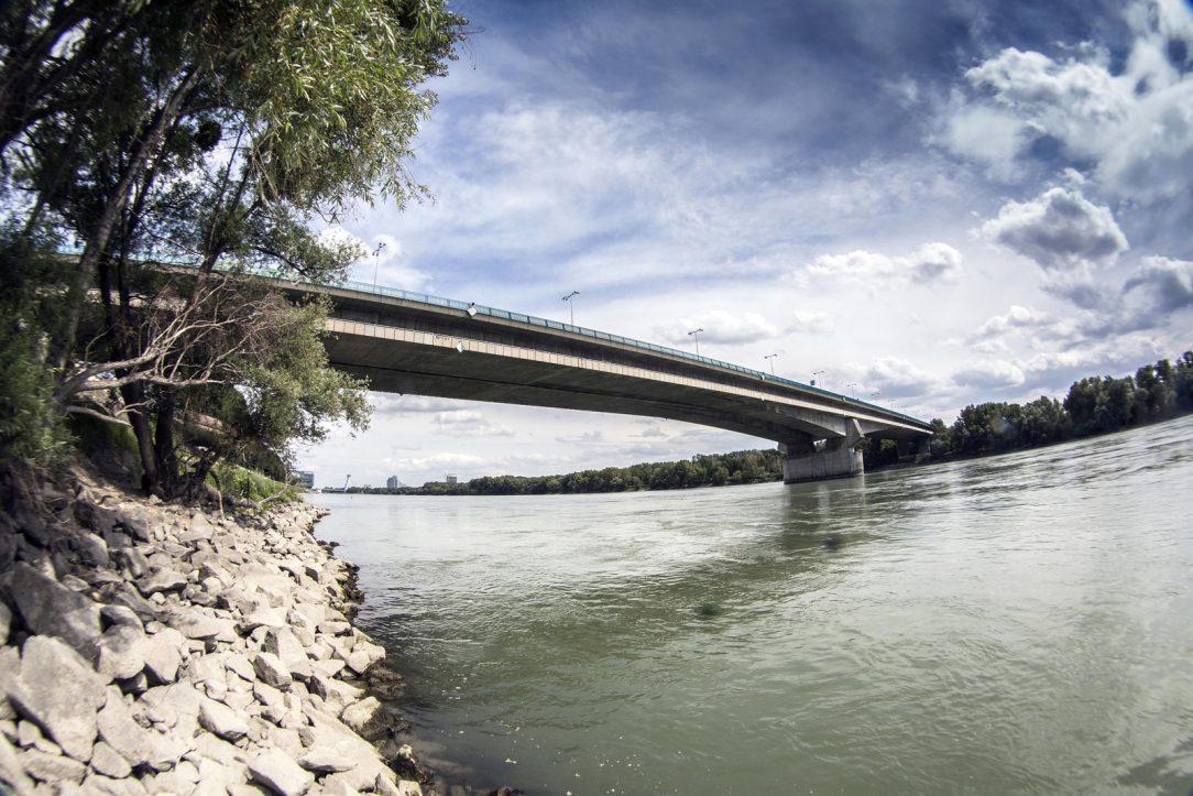 Lafranconi Bridge in Bratislava