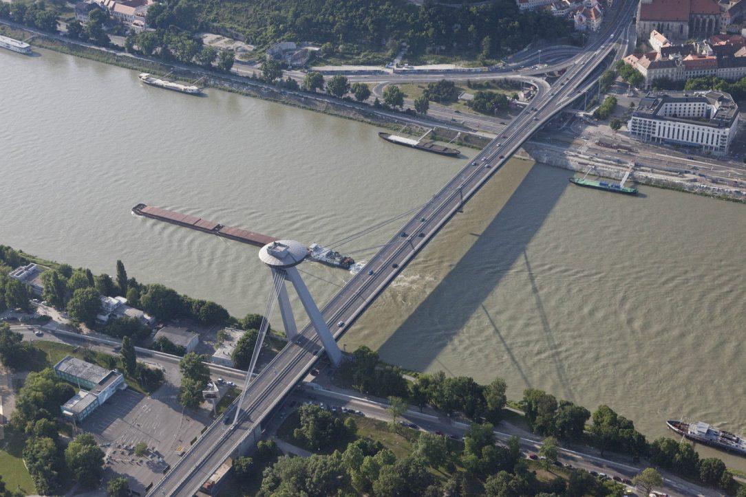 New Bridge Nový most in Bratislava