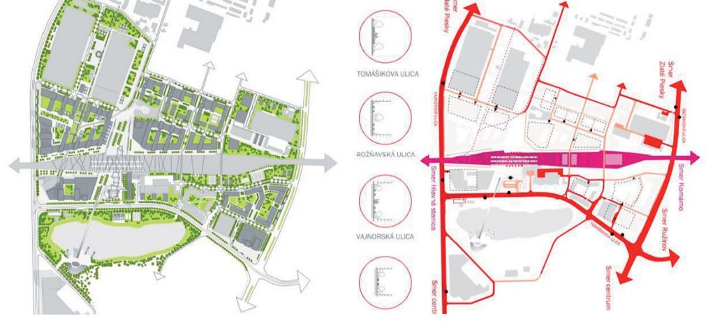 Obr. 4 Železničná stanica Bratislava Nové Mesto diplomový projekt Nové Mesto vstupná brána H. Stehlíková 2012