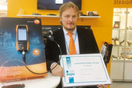 Ocenenie si prevzal produktový manažér analyzátorov spalín Testo, pán Martin Dragoun