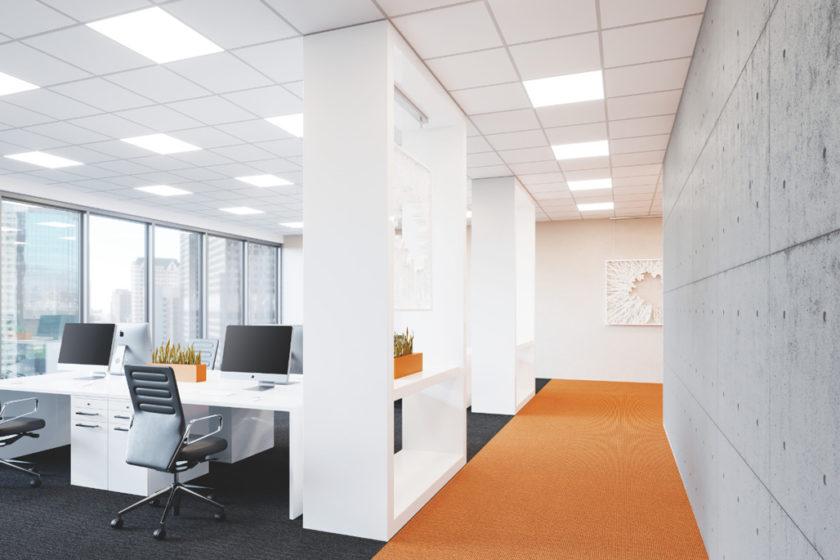 Použitie panelov IndiviLED v kancelárskom osvetlení