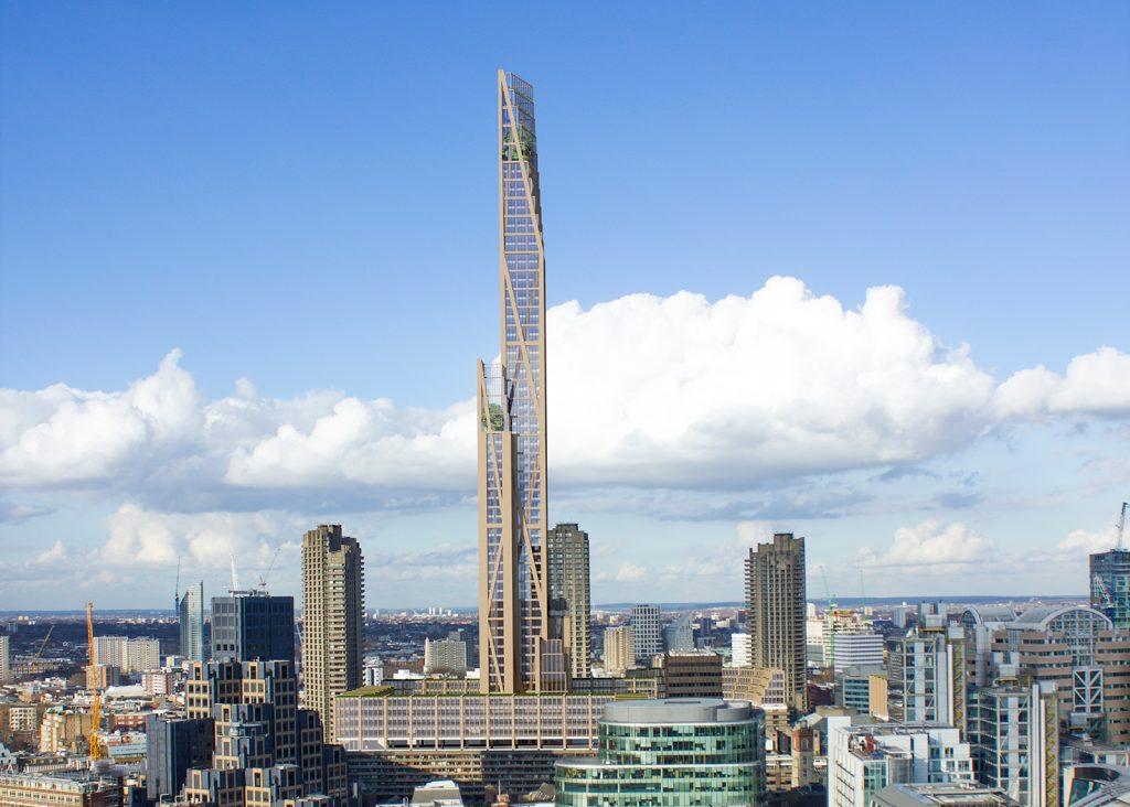 Pripravovaný projekt Oakwood Timber Tower v Londýne