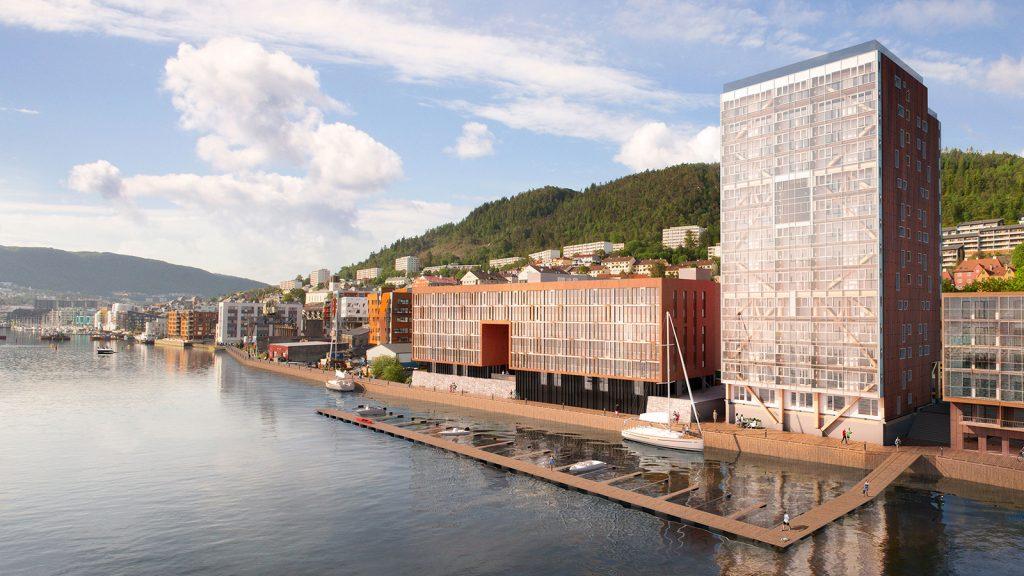 Treet Building bytový dom v Bergene Nórsko