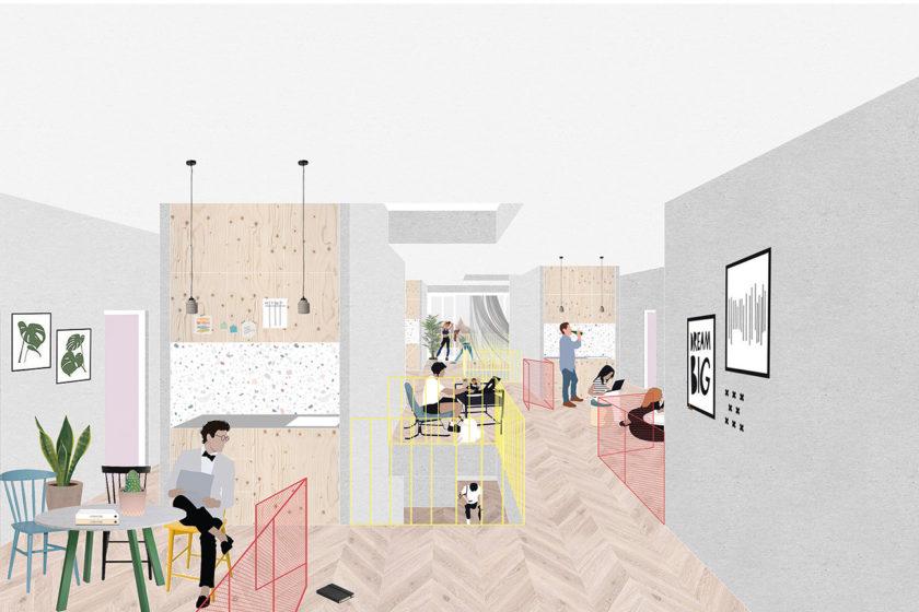 SLLA: vizualizácia interiéru.