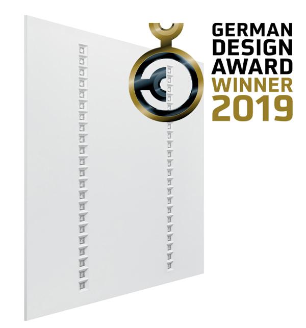 Panel IndiviLED, náhrada mriežkového stropného svietidla 4 x 18 W T8, ocenený cenou German Design Awards