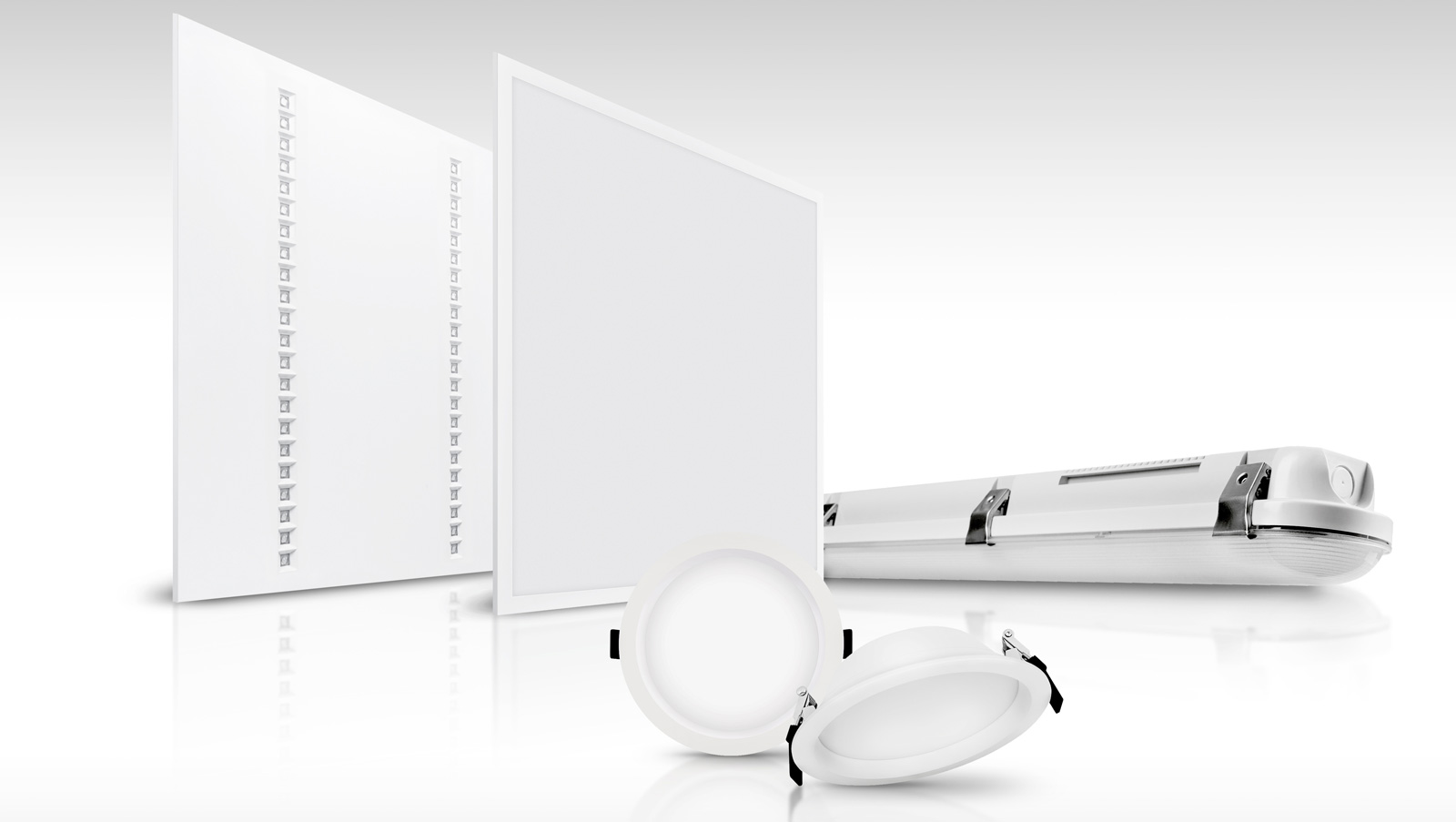 Panel Value, Downlight ALU, Damp Proof - svietidlá s integrovanou funkciou núdzového osvetlenia