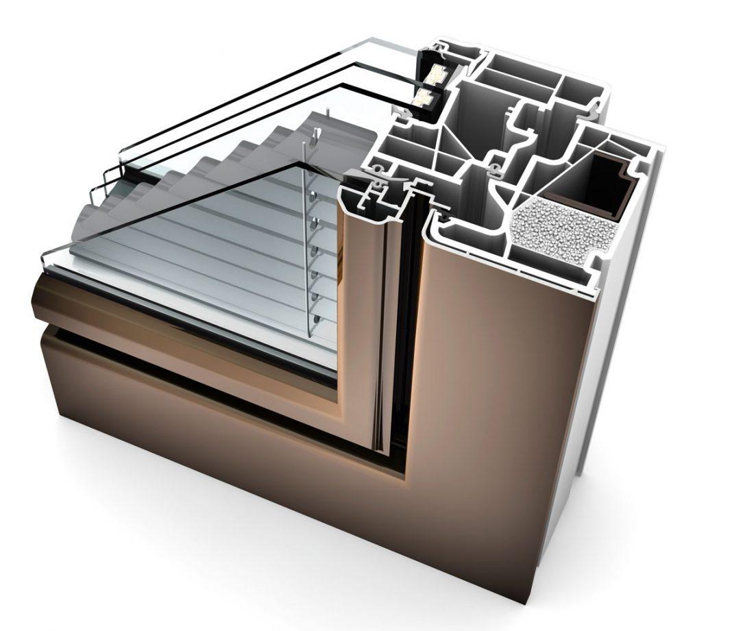 Rez Internorm zdvojeného okna KV440 – dizajnový štýl Ambiente