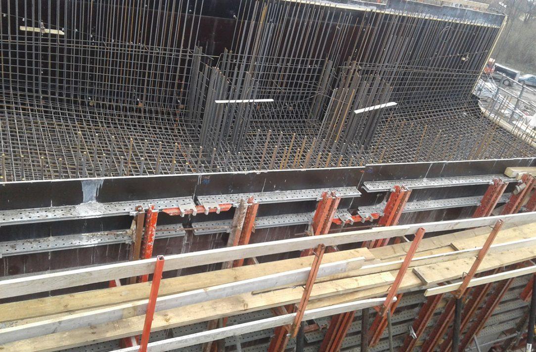 Armatúra zárodku letmej betonáže