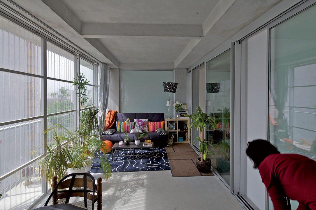 Byty získali zimnú záhradu ktorú každý majiteľ využíva po svojom.