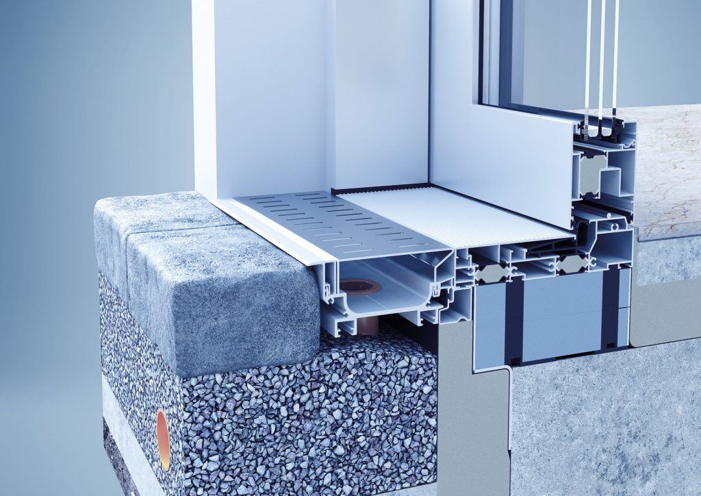 Drenážny systém heroal DS je ideálny pri bezbariérových riešeniach a zaisťuje potrebný plošný odvod vody aby sa zabránilo poškodeniu presakujúcou vlhkosťou.