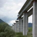 Obr. 12 Pohľad na vysúvaný most pri Ružomberku SO 213 počas výstavby