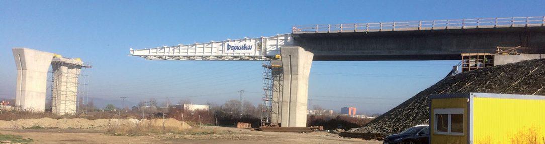 Obr. 14 Pohľad na výstavbu mosta pri Prešove SO 206