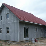 Opláštenie drevostavby cementotrieskovými doskami CETRIS