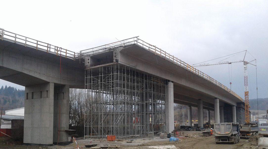 Pohľad na NK letmej betonáže a NK na podpernej skruži