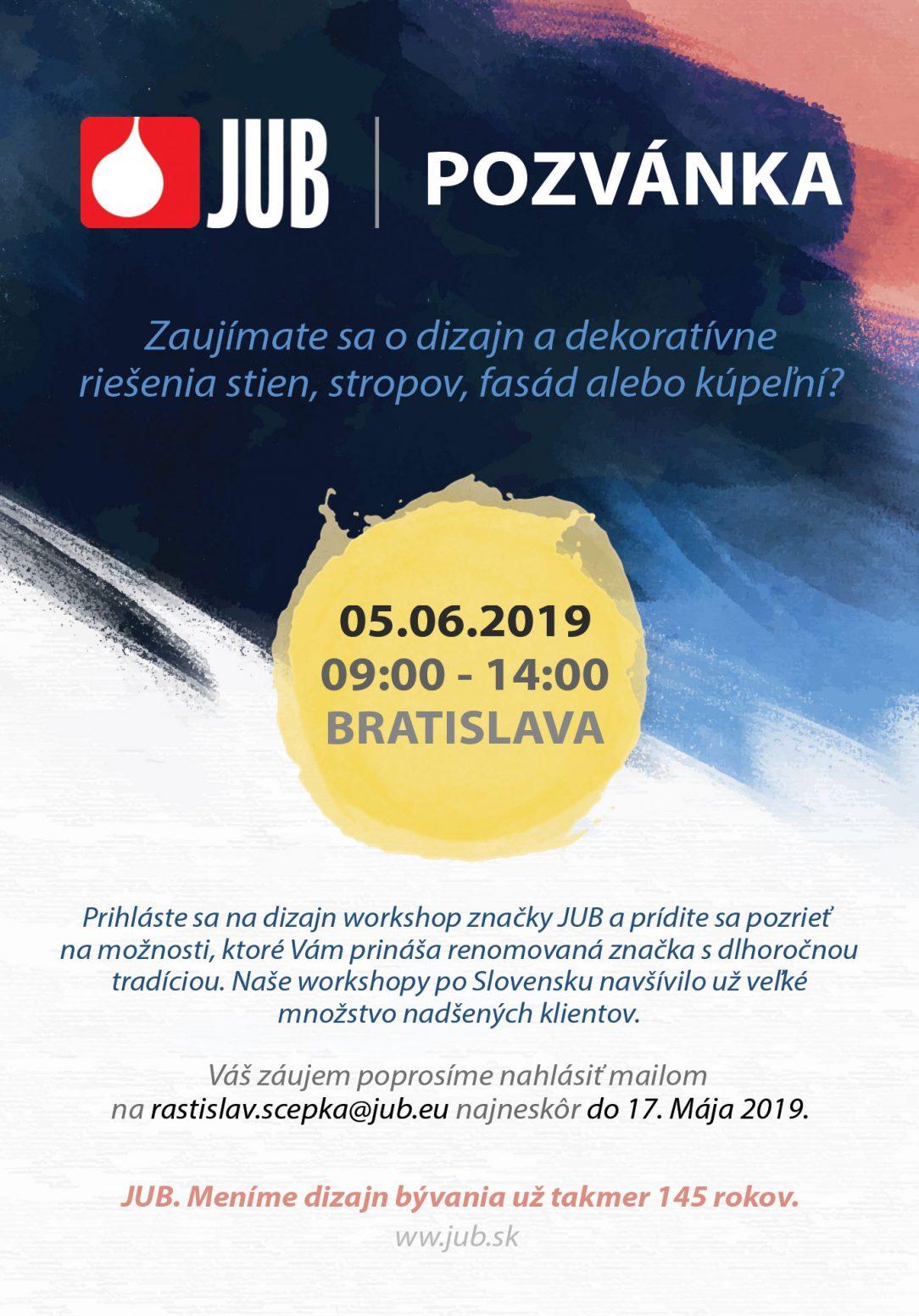 Pozvanka JUB decor ARCH 05.06.2019
