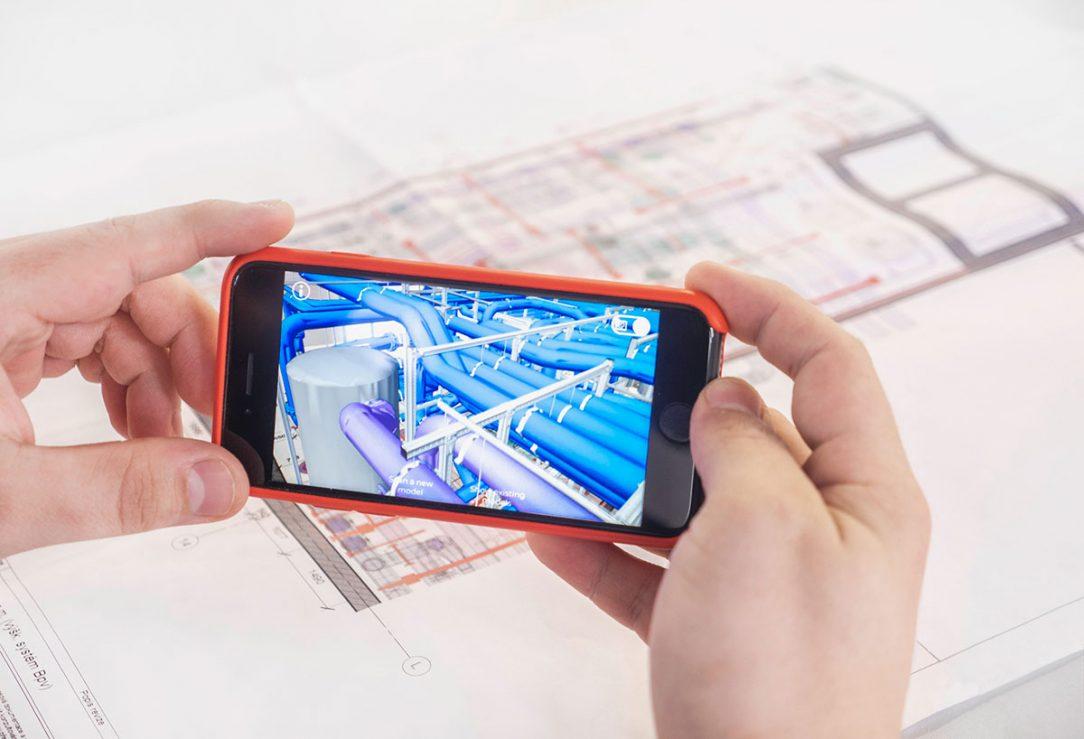 Vizualizácia projektu pomocou mobilného telefónu