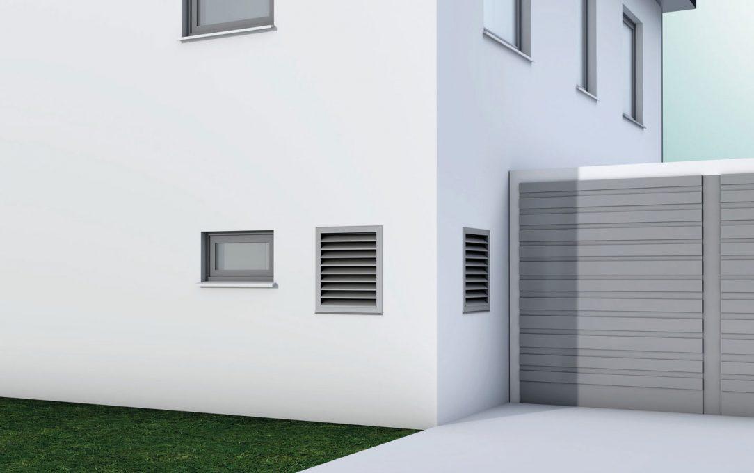 Zariadenie recoCOMPACT exclusive s prieduchmi cez obvodovú stenu domu