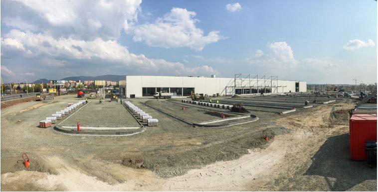 ac8e09789e71b Práce na novej predajni HORNBACH v Prešove usilovne napredujú | ASB.sk