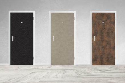 bezpečnostné dvere SHERLOCK® s extrémne odolným a dizajnovým povrchom FunderMax