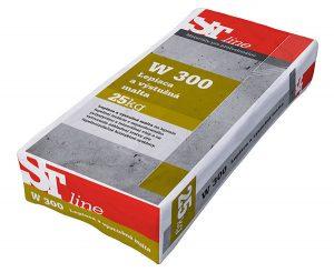 ST Line W 300 je lepiaca a výstužná malta na lepenie tepelnej izolácie z expandovaného polystyrénu a minerálnej vlny