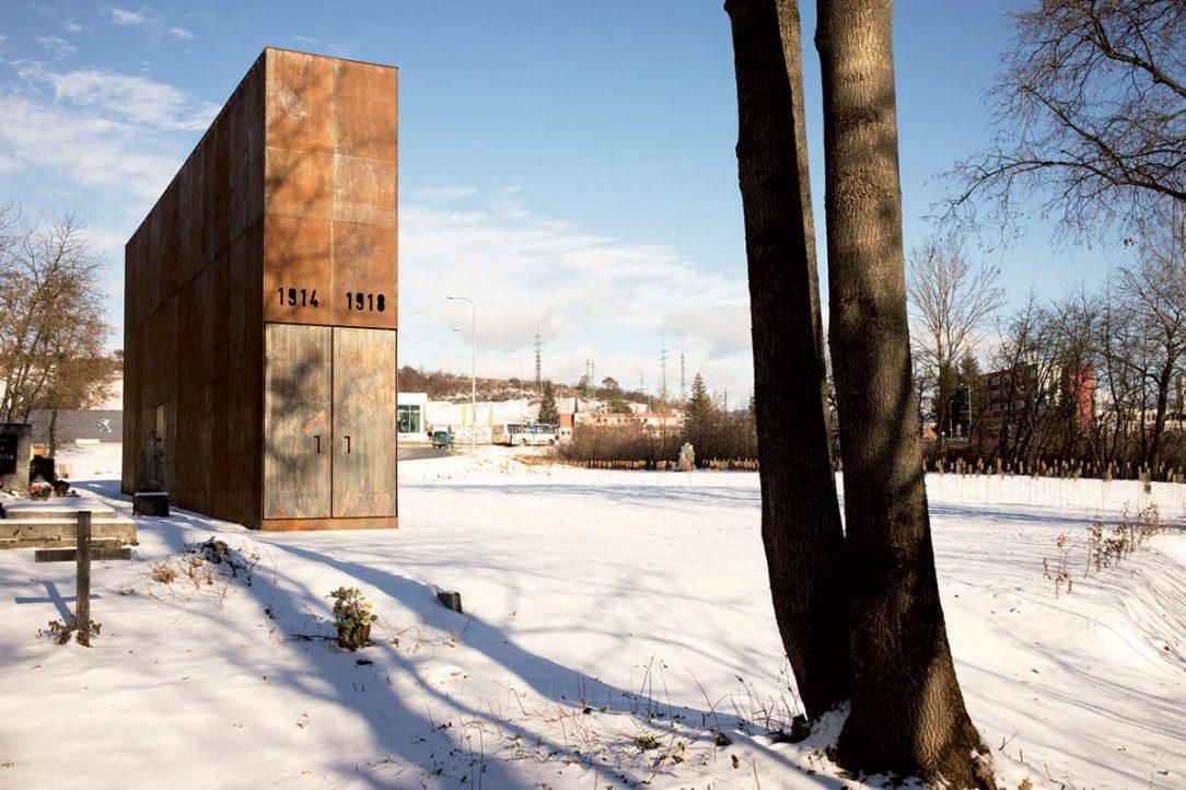 Pamätník 1. sv. vojny v Banskej Bystrici. Súťaž vyhlásená v roku 2016, realizácia 2018. Autori: Vít Halada, Benjamín Brádňanský, Maroš Greš. Foto: autori.