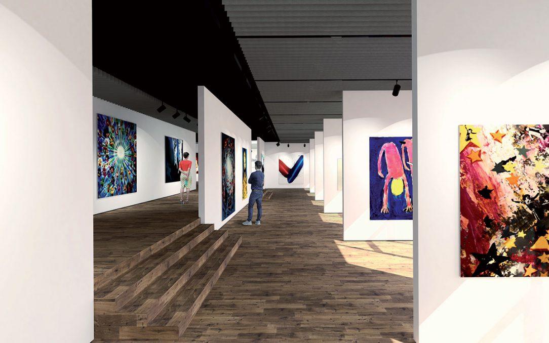 Interiér expozičných priestorov