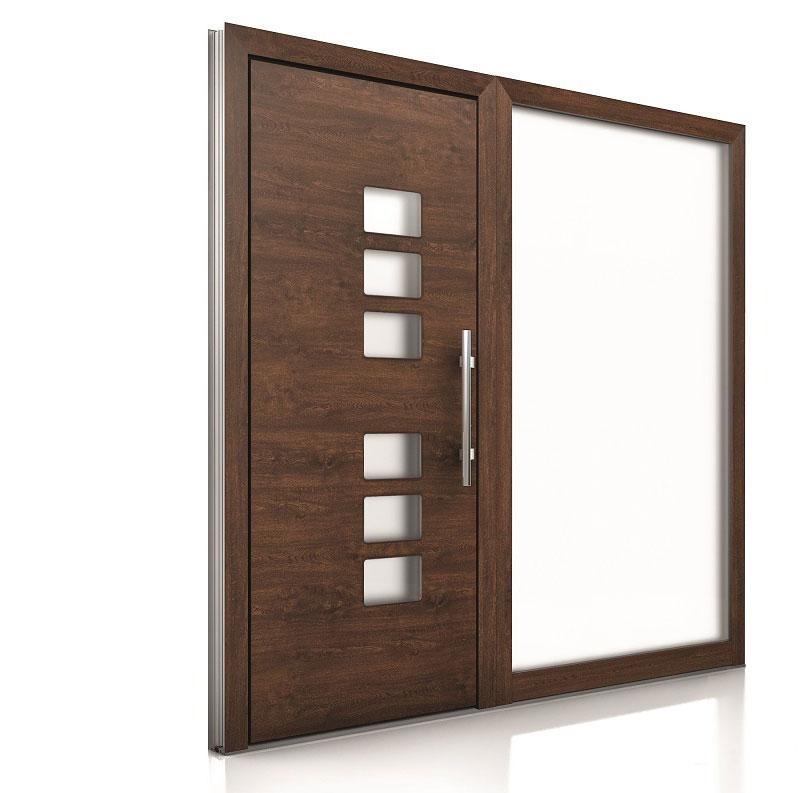 Internorm hliníkové vchodové dvere AT410 imitácia dreva 1000x1000