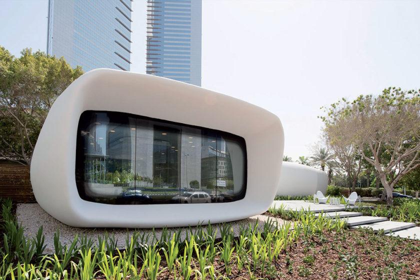 Kancelárie Dubai Future Foundation vytlačila čínska firma Winsun len za 17 dní.