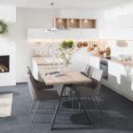 Kuchyňa Family- Iris. Vstúpte do sveta elegancie a komfortu. Vaša kuchyňa si zaslúži maximálnu pozornosť. Farebná kombinácia tmavej farby a drevodekoru dodá interiéru dynamiku a potrebnú energiu. Kovový regál v industriálnom štýle je praktický a opticky odľahčí hornú časť kuchynskej linky.