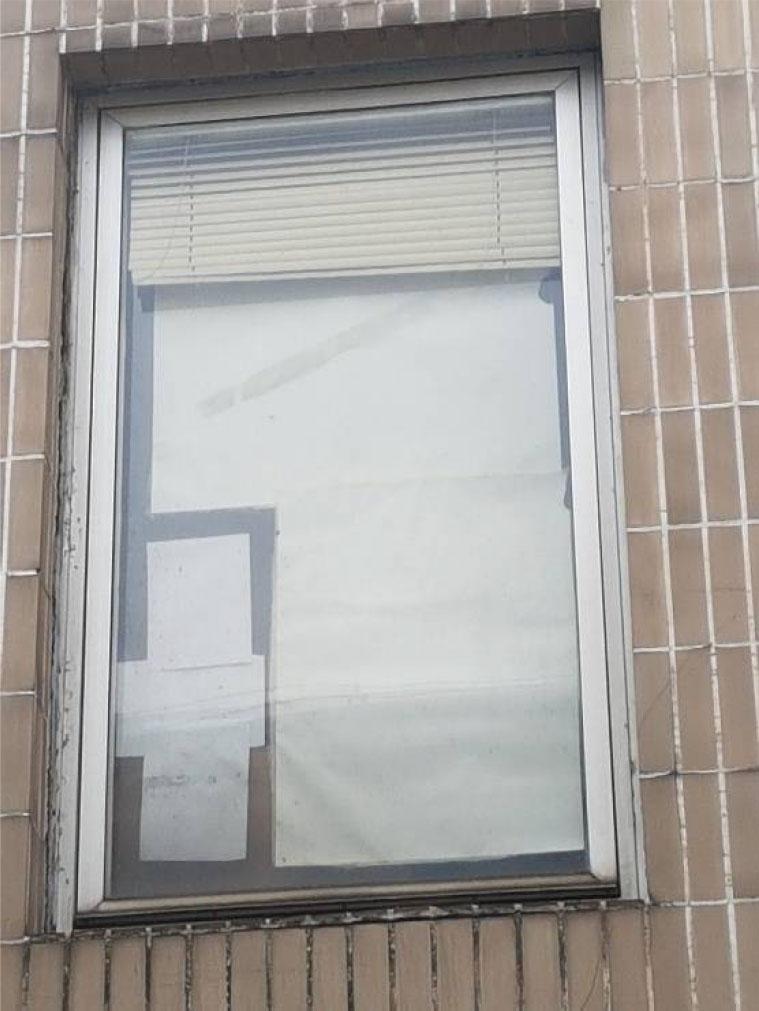 Obr. 3 Príklad výmeny okna pomocou rekonštrukčného rámu – okno s pôvodným Al otočným krídlom