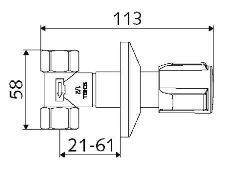 Podomietkový regulačný ventil SCHELL schéma