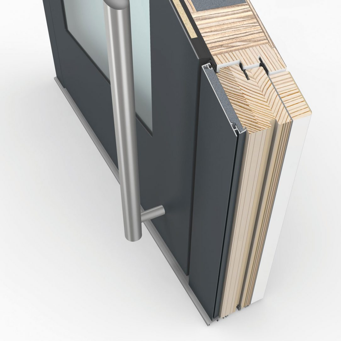 Rez drevohlinikovych vchodovych dveri HT410