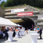 Slávnostná prerážka pravej tunelovej rúry tunela Prešov