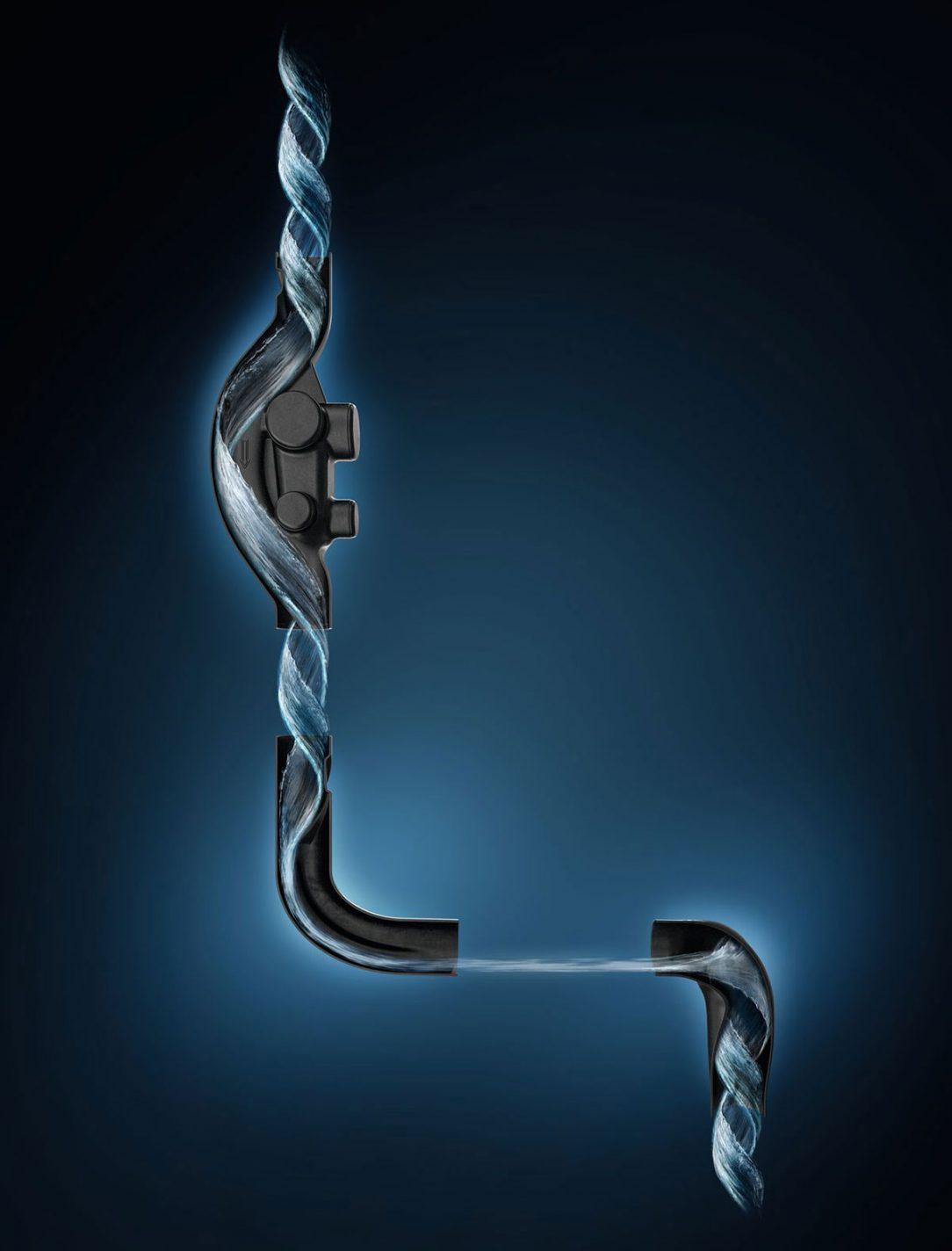 Technológia Geberit SuperTube je založená na dokonalej súhre medzi štyrmi časťami systému